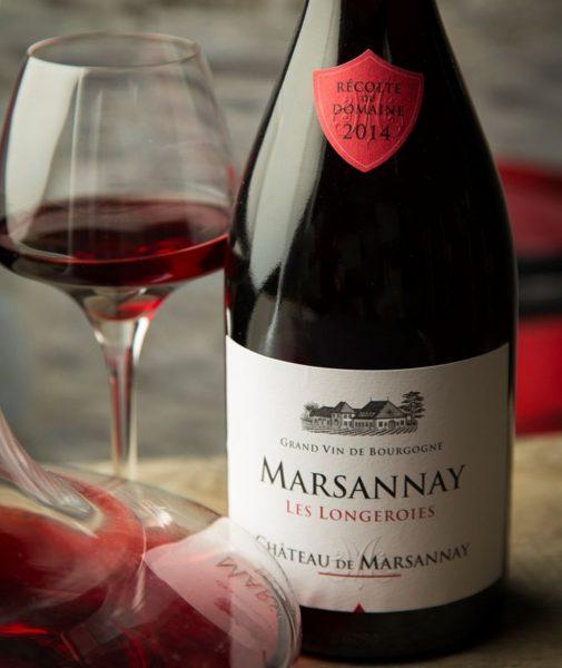 Eine Weinprobe im Château de Marsannay