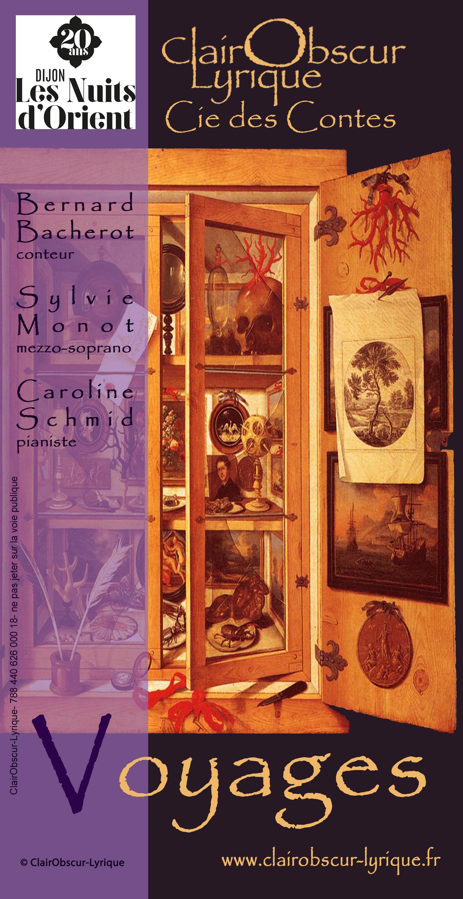 """Spectacle """"Voyages"""" – Lecture Conte Chant Lyrique Soliste et Piano"""